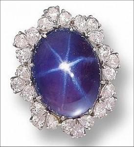 Blue Star Sapphire Stone