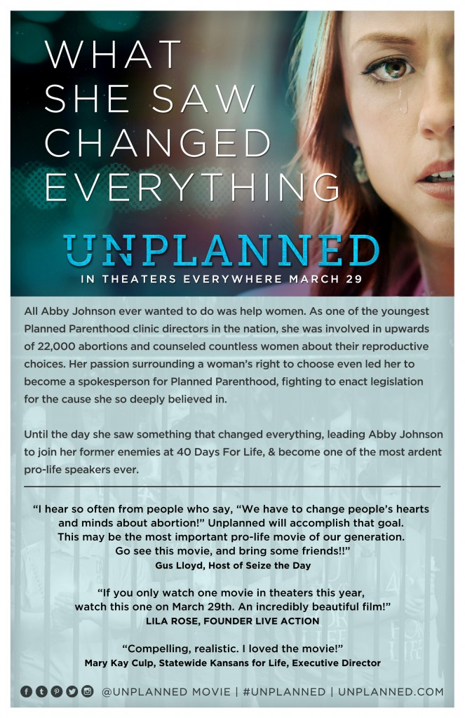 "The ""Unplanned"" movie is coming to Forum Six Theater in Uvalde, Texas!"